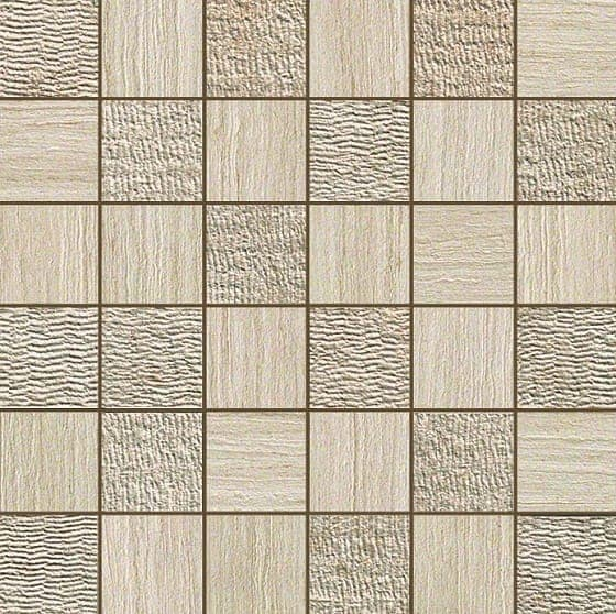 Керамическая плитка Sunrock Travertino Almond Mosaico Mix Керамогранит